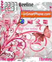 Pink Butterfly theme screenshot