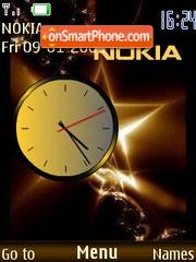 Скриншот темы Swf Clock Nokia