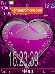 Swf Clock Heart theme screenshot
