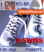 K-Swiss Classic theme screenshot