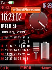 Скриншот темы SWF clock $ calendar anim