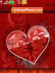 Swf Heart Clock 01 theme screenshot