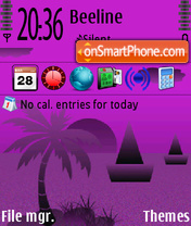 Purple Night theme screenshot