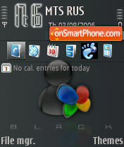 Black Msn theme screenshot