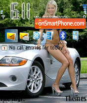 BMW Girl theme screenshot