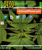 Cannabis Sativa theme screenshot