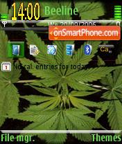 Скриншот темы Cannabis Sativa