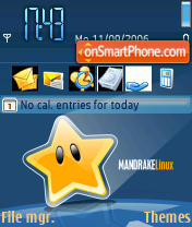 Mandrake Linux theme screenshot