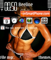 Fitness girl theme screenshot