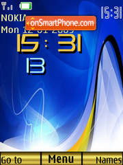 Clock Abstract SWF theme screenshot