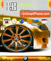 BMW M3 Gold theme screenshot