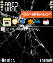 Broken Screen theme screenshot