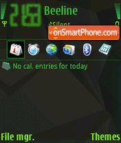Скриншот темы Black S60 Prot