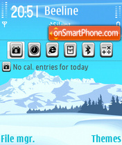 Snow Mountainje theme screenshot