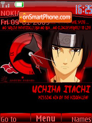 Uchiha Itachi Clock SWF theme screenshot