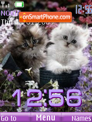 SWF clock kittens theme screenshot