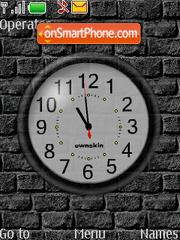 Swf Wall Clock es el tema de pantalla
