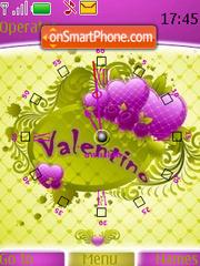 Swf Valentine Clock theme screenshot