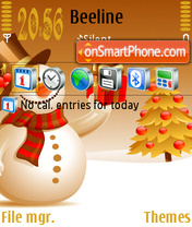 Snowman As v.1 theme screenshot