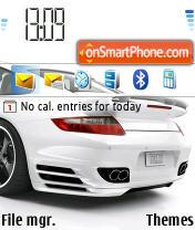 Скриншот темы Porsche White