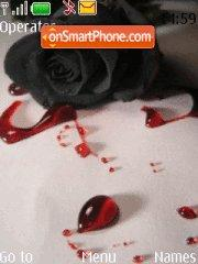 Bloody rose tema screenshot