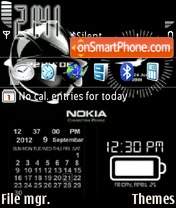 Animated Nokia Clock tema screenshot