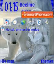 Ice Women theme screenshot