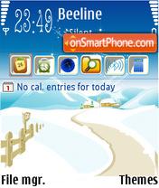 Скриншот темы Winter Day