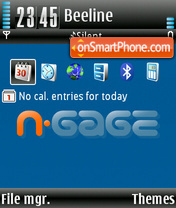 N Gage v2.2 theme screenshot
