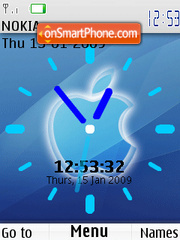 Apple Clock SWF theme screenshot