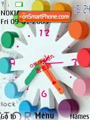 Скриншот темы Swf Color Clock