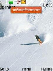 Snowboarding es el tema de pantalla