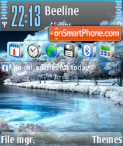 La Neige tema screenshot