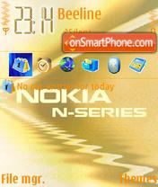 Скриншот темы Nokia N Series 01