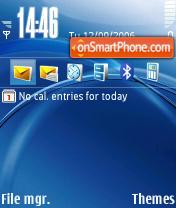 Dreaming Blue Default theme screenshot