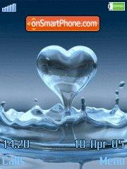 Love water es el tema de pantalla