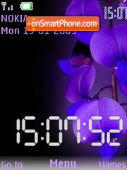 Скриншот темы Iris Clock SWF