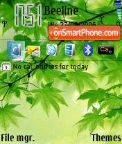 Скриншот темы Xiuse