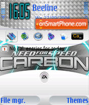 Скриншот темы Need For Speed Carbon