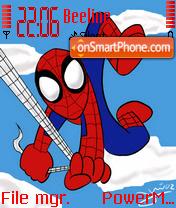 Chibi Spiderman theme screenshot