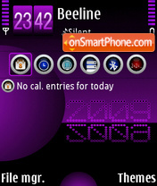 Violet blue 2009 theme screenshot