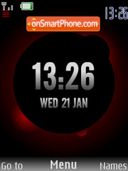 Bordo Clock SWF theme screenshot