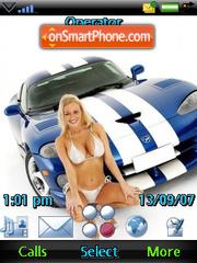 Cars and Babe theme screenshot