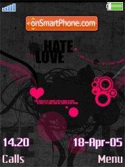 Hate Love es el tema de pantalla