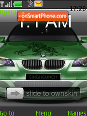 Bmw Clock SWF tema screenshot