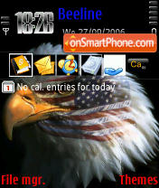 American Eagle theme screenshot