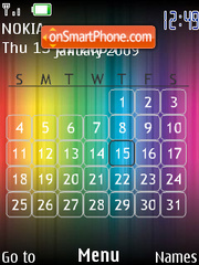 Rainbow Calendar SWF theme screenshot