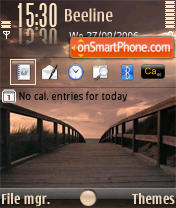Sunset Bridge tema screenshot