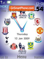 Premier League Clock SWF 01 theme screenshot