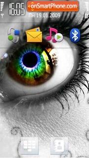Скриншот темы Rainbow Eye